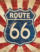 Vintage Route 66 Metal Novelty Parking Sign