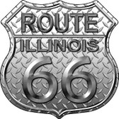 Route 66 Diamond Illinois Metal Novelty Highway Shield