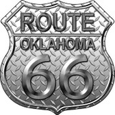 Route 66 Diamond Oklahoma Metal Novelty Highway Shield