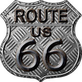 Route 66 Stamped Metal Novelty Highway Shield