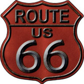 Route 66 Red Metal Novelty Highway Shield