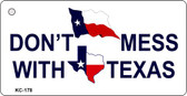 Don't Mess With Texas Novelty Key Chain