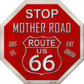 Route 66 Mother Road Metal Novelty Stop Sign