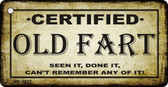 Certified Old Fart Novelty Key Chain
