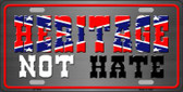 Heritage Not Hate Novelty Metal License Plate