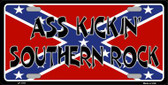 Southern Rock Confederate Flag Metal Novelty License Plate