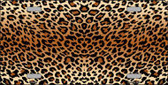 Cheetah Print Background Metal Novelty License Plate