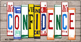 Confidence Wood License Plate Art Novelty Key Chain
