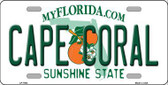 Cape Coral Florida Novelty Metal License Plate