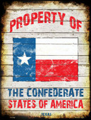 Property Of Texas Metal Novelty Parking Sign