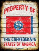Property Of Tennessee Metal Novelty Parking Sign