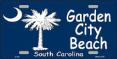 Garden City Beach South Carolina Metal Novelty License Plate