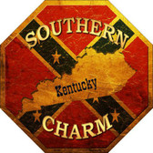 Southern Charm Kentucky Metal Novelty Stop Sign