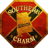 Southern Charm Alabama Metal Novelty Stop Sign