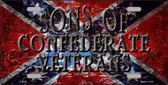 Sons Of Confederate Veterans Novelty Metal License Plate
