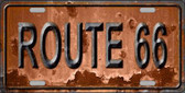 Route 66 Novelty Metal License Plate