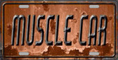 Muscle Car Novelty Metal License Plate