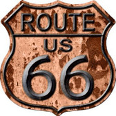 Route 66 Rusty Metal Novelty Highway Shield