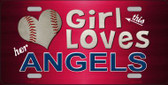 This Girl Loves Her Angels Novelty Metal License Plate