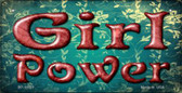 Girl Power Novelty Metal Bicycle License Plate