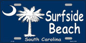 Surf Side Beach Metal Novelty License Plate