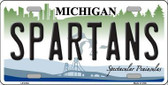 Spartans Michigan Novelty Metal License Plate