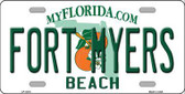 Fort Myers Beach Novelty Metal License Plate