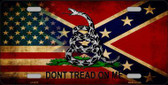 American Confederate Dont Tread Novelty Metal License Plate