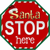 Santa Stop Here Metal Novelty Stop Sign
