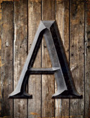 Letter A Metal Novelty Parking Sign
