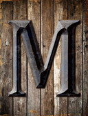 Letter M Metal Novelty Parking Sign