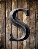 Letter S Metal Novelty Parking Sign