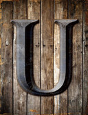 Letter U Metal Novelty Parking Sign