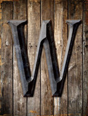 Letter W Metal Novelty Parking Sign