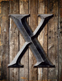 Letter X Metal Novelty Parking Sign
