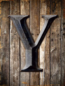 Letter Y Metal Novelty Parking Sign