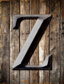 Letter Z Metal Novelty Parking Sign