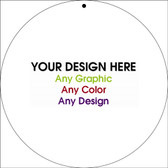 "Personalized Design Your Own Custom 12"" x 12"" Novelty Circular Sign"
