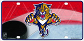 Florida Panthers Metal Novelty License Plate