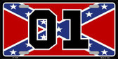 Confederate Flag 01 Metal Novelty License Plate