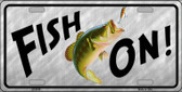 Fish On Novelty Metal License Plate
