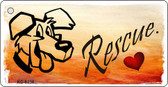 Rescue Dog Novelty Metal License Plate
