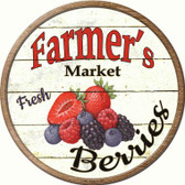 Farmers Berries Novelty Metal Circular Sign