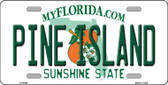 Pine Island Novelty Metal License Plate