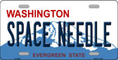 Space Needle Washington Novelty Metal License Plate