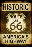 Historic Route 66 Metal Novelty Large Parking Sign LGP-1316