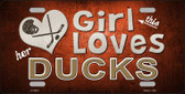 This Girl Loves Her Ducks Novelty Metal License Plate