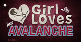 This Girl Loves Her Avalanche Novelty Metal Key Chain