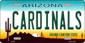 Cardinals Arizona State Background Novelty Metal License Plate