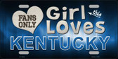 This Girl Loves Kentucky Novelty Metal License Plate